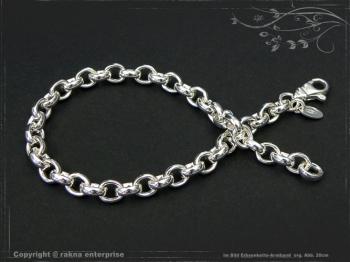 Silberkette Erbsenkette Armband B5.5L22 massiv 925 Sterling Silber