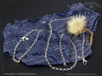 Silberkette Erbsenkette Armband B4.0L18 massiv 925 Sterling Silber