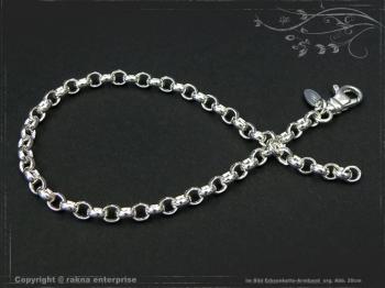Silberkette Erbsenkette Armband B4.0L23 massiv 925 Sterling Silber