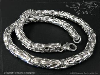 Königskette Rund B10.0L85 massiv 925 Sterling Silber