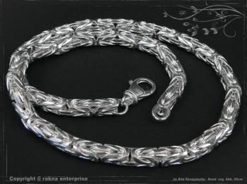 Königskette Rund B8.0L85 massiv 925 Sterling Silber