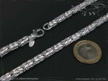 Königskette Rund B6.0L45 massiv 925 Sterling Silber