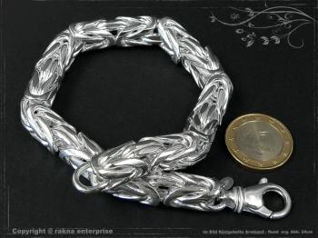 Königskette Armband Rund B10.0L24 massiv 925 Sterling Silber