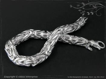 Königskette Armband Rund B10.0L28 massiv 925 Sterling Silber