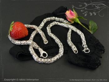 Königskette Armband Rund B8.0L21 massiv 925 Sterling Silber