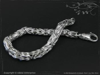 Königskette Armband Rund B8.0L25 massiv 925 Sterling Silber