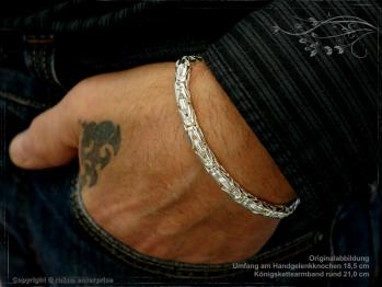 Königskette Armband Rund B6.0L20 massiv 925 Sterling Silber