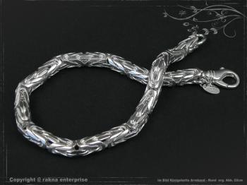 Königskette Armband Rund B6.0L21 massiv 925 Sterling Silber