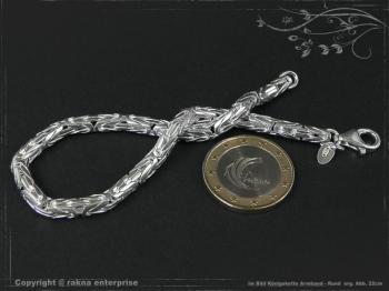 Königskette Armband Rund B4.0L17 massiv 925 Sterling Silber