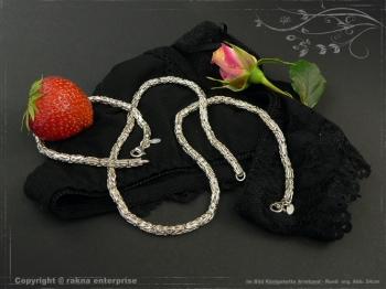 Königskette Armband Rund B4.0L19 massiv 925 Sterling Silber