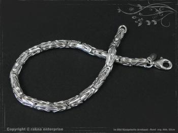 Königskette Armband Rund B4.0L22 massiv 925 Sterling Silber