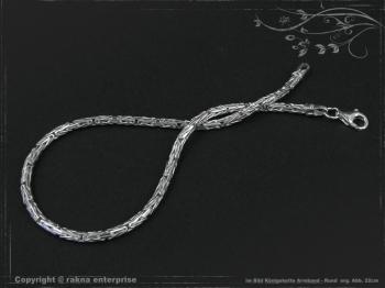 Königskette Armband Rund B2.3L22 massiv 925 Sterling Silber
