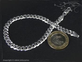 Panzerarmband B6.0L23 massiv 925 Sterling Silber