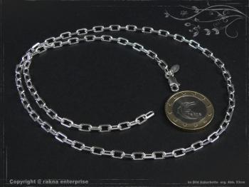 Ankerkette B3.8L80 massiv 925 Sterling Silber