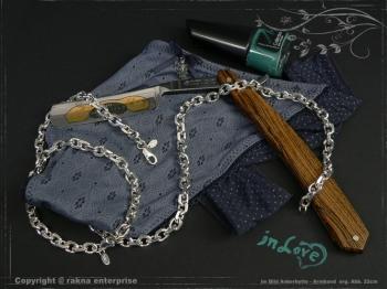 Ankerkette Armband B6.5L18 massiv 925 Sterling Silber