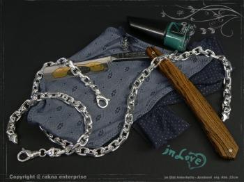 Ankerkette Armband B8.0L18 massiv 925 Sterling Silber