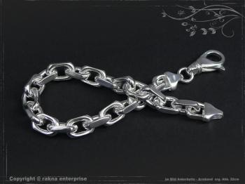 Ankerkette Armband B8.0L23 massiv 925 Sterling Silber