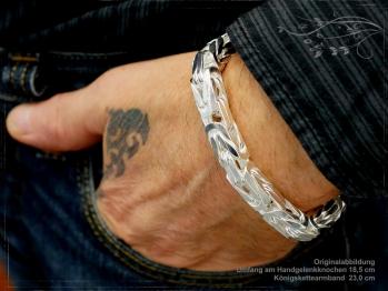 Königskette Armband B10.0L24 massiv 925 Sterling Silber