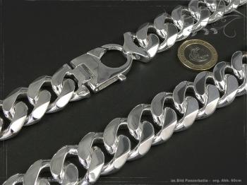 Panzerkette Extra Breit B23.0L70 massiv 925 Sterling Silber