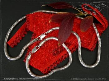 Schlangenkette Armband D5.0L18 massiv 925 Sterling Silber