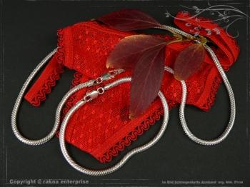 Schlangenkette Armband D3.5L18 massiv 925 Sterling Silber