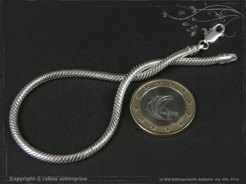 Schlangenkette Armband D3.0L17 massiv 925 Sterling Silber