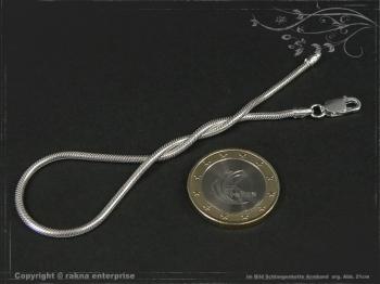 Schlangenkette Armband D2.0L17 massiv 925 Sterling Silber