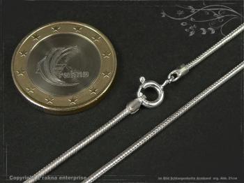Schlangenkette Armband D1.4L25 massiv 925 Sterling Silber