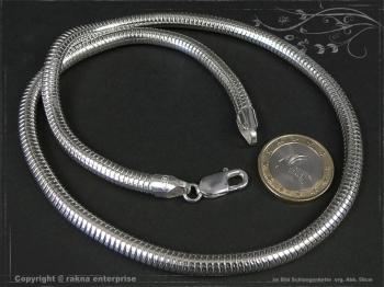 Schlangenkette D6.0L75 massiv 925 Sterling Silber