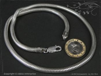 Schlangenkette D5.0L80 massiv 925 Sterling Silber