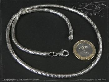 Schlangenkette D4.0L65 massiv 925 Sterling Silber