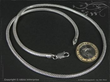 Schlangenkette D3.5L75 massiv 925 Sterling Silber
