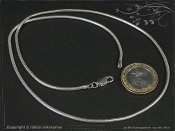 Schlangenkette D2.0L40 massiv 925 Sterling Silber