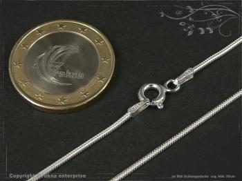 Schlangenkette D1.2L45 massiv 925 Sterling Silber
