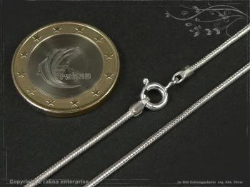 Schlangenkette D1.4L50 massiv 925 Sterling Silber