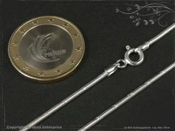Schlangenkette D1.4L80m massiv 925 Sterling Silber
