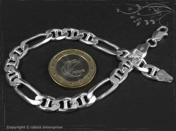 Figarucci  Panzerkette Armband B7.5L22 massiv 925 Sterling Silber