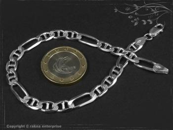 Figarucci  Panzerkette Armband B5.5L23 massiv 925 Sterling Silber