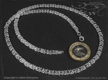 Königskette Flach B4.6L70 massiv 925 Sterling Silber