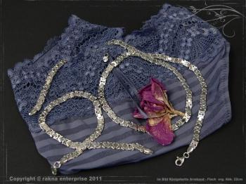 Königskette Armband Flach B4.6L18 massiv 925 Sterling Silber