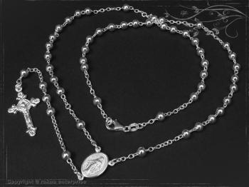 Rosenkranz Design-Kugel-L55 massiv 925 Sterling Silber
