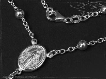 Rosenkranz Design-Kugel-L63 massiv 925 Sterling Silber