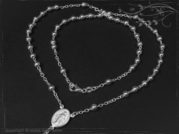 Rosenkranz Design-Kugel-L76 massiv 925 Sterling Silber