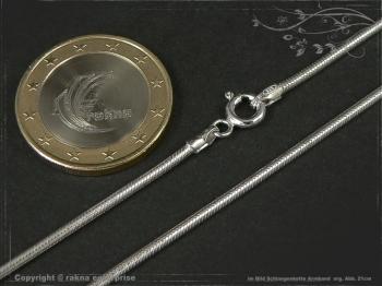 Schlangenkette Armband D1.6L24 massiv 925 Sterling Silber