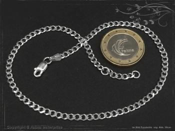 Fußkette Panzerkette B3.0L28 massiv 925 Sterling Silber