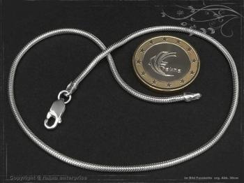 Fußkette Schlangenkette B2.0L28 massiv 925 Sterling Silber
