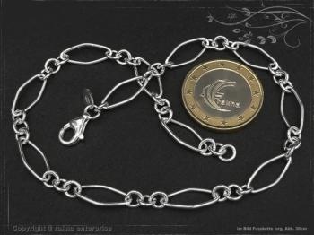 Fußkette Silberkette Spring L30 massiv 925 Sterling Silber