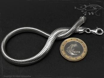 Schlangenkette Armband oval D6.0L25 massiv 925 Sterling Silber