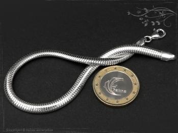 Schlangenkette Armband oval D4.5L22 massiv 925 Sterling Silber