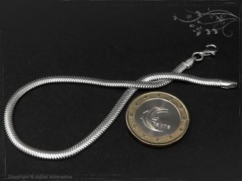Schlangenkette Armband oval D3.5L24 massiv 925 Sterling Silber